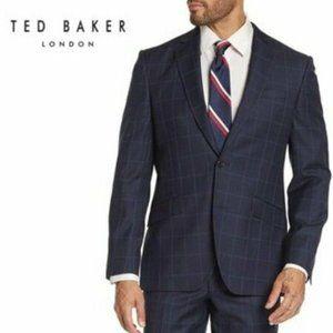 🆕Ted Baker London Checkered Print Wool Blazer